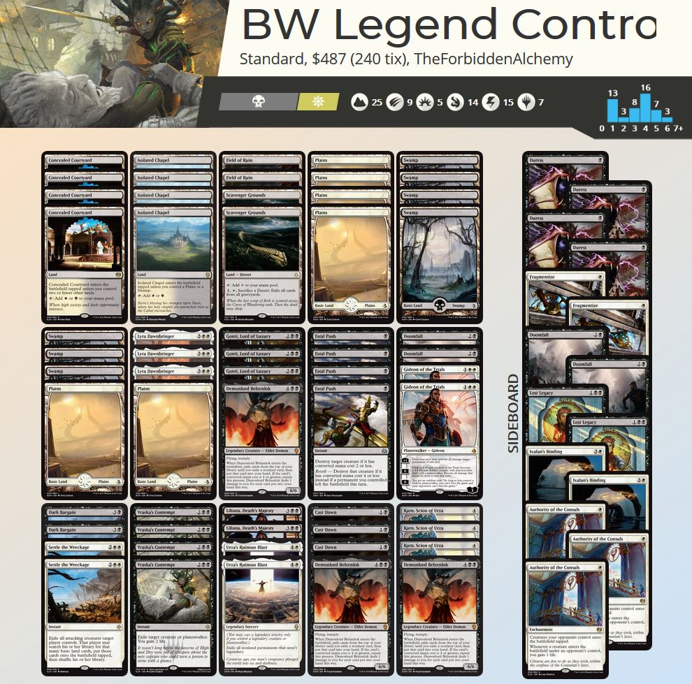 BW Legends Control