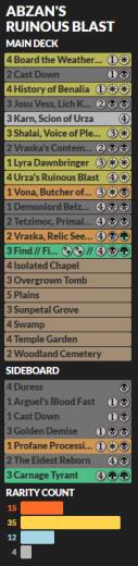 Abzan's Ruinous Blast Decklist